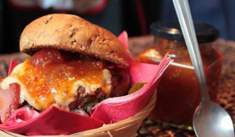 GingerBeard's Preserves Beef Burger