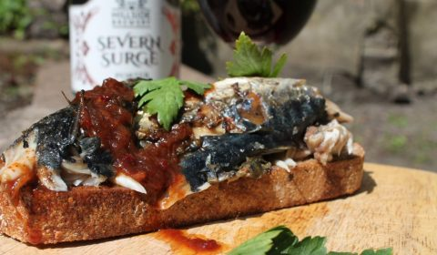 GingerBeard's Preserves Recipe Barbecued Mackerel on Toast