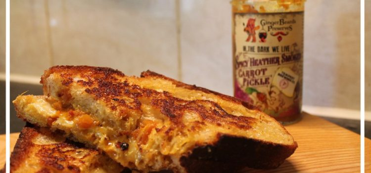 Cheese and Spicy Carrot Toastie